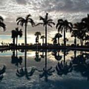 Miami Sunset Art Print