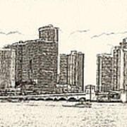 Miami - Venetian Causeway Art Print