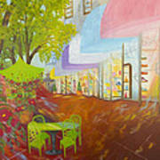 Miami's Coconut Grove Shops Art Print by Douglas Ann Slusher
