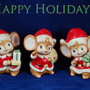 Mice Holiday Art Print