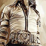 Michael Jackson Artwork 2 Print by Sheraz A