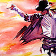 Michael Jackson-billie Jean Art Print