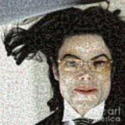 Michael Jackson - Fly Away Hair Mosaic Art Print