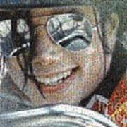 Michael Jackson - Mosaic Art Print