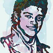 Michael Jackson stylised pop art poster Art Print