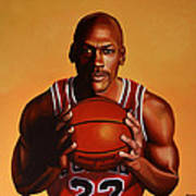 Michael Jordan 2 Art Print by Paul Meijering