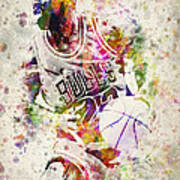 Michael Jordan Art Print by Aged Pixel