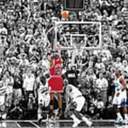 Michael Jordan Buzzer Beater Art Print by Brian Reaves