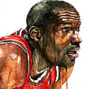 Michael Jordan Early Days Art Print by Michael  Pattison