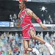 Michael Jordan Art Print by Freda Nichols