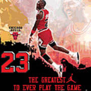 Michael Jordan Greatest Ever Print by Israel Torres