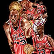 Michael Jordan Art Print by Israel Torres
