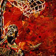 Michael Jordan Print by Maria Arango