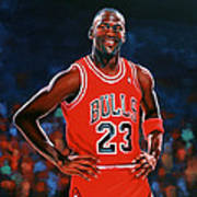 Michael Jordan Print by Paul Meijering