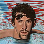 Michael Phelps Art Print by Paul Meijering