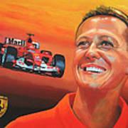Michael Schumacher 2 Art Print