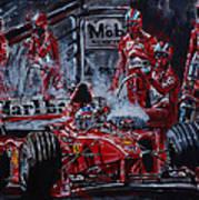 Michael Schumacher Out Of The Darkness Art Print