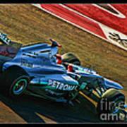 Michael Schumacher Silver Arrows Art Print