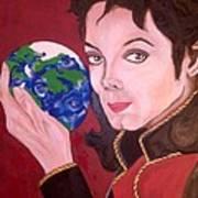 Michael's World Print by Lorinda Fore