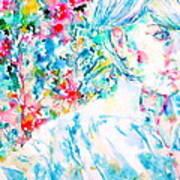 Michela In The Garden Art Print