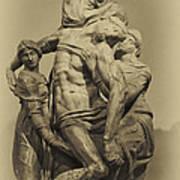 Michelangelo's Florence Pieta Art Print