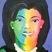 Michelle Obama Color Effect Art Print