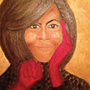 Michelle Obama Print by Ginnie McKnight