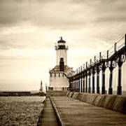 Michigan City Lighthouse Art Print
