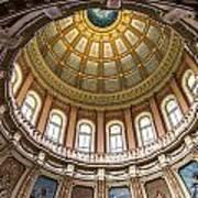 Michigan State Capitol Dome In Color  Art Print