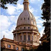 Michigan State Capitol Art Print
