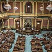 Michigan State Senate From Above  Art Print