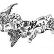 Michigan U.p. Wildlife Art Print