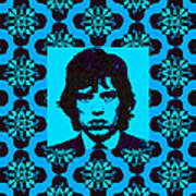 Mick Jagger Abstract Window P168 Art Print by Wingsdomain Art and Photography