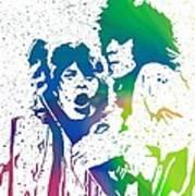 Mick Jagger And Keith Richards Art Print