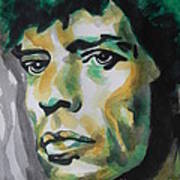 Mick Jagger Print by Chrisann Ellis