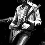 Mick 1977 Art Bw Art Print