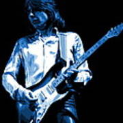 Mick Plays The Blues 1977 Art Print