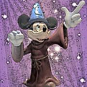 Mickey And The Stars Art Print