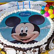Mickey Mouse Cake Art Print