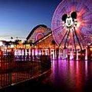 Mickey's Water Wheel Art Print