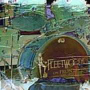 Mick's Drums Art Print by Paulette B Wright