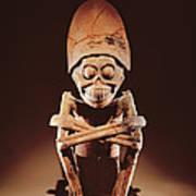 Mictlantecuhtli Lord Of Mictlan Remojadas Style, From Los Cerros, Tierra Blanca, Vera Cruz Pottery Art Print