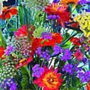 Mid August Bouquet Art Print