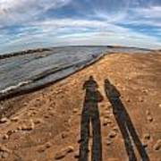 Mid Dec Day At The Beach...who Can Argue At Presque Isle State Park Series Art Print