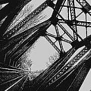 Mid Span  In Black And White Art Print