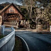 Middle Bridge - Woodstock Vermont Art Print