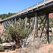 Midgley Bridge And Oak Creek Canyon  Art Print