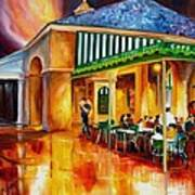 Midnight At The Cafe Du Monde Art Print