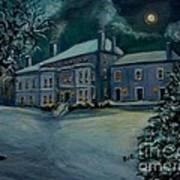 Midnight At The  Lyman Estate Art Print