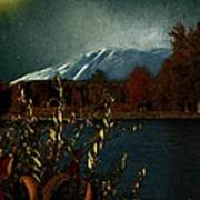 Midnight Blue In The Mountains Art Print